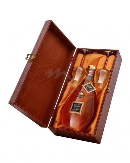 Luce d' Ambra Grappa di Amarone Riserva Morandini Cofanetto Legno + 2 Bicchieri